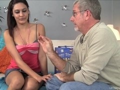 Tiny Teen Loves Tickling Her Step Dad S Ass With Tongue