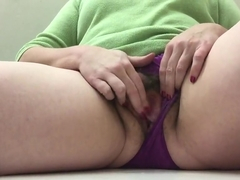 Wet panty fun in jcp fitting room