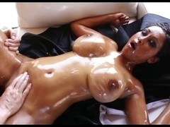 Dusky Busty Oiled Asian