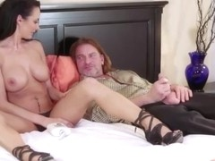 Big tits brunette whore Alektra Blue gets her twat ripped