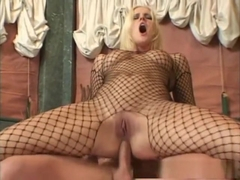 Incredible pornstar Hannah Harper in exotic fishnet, facial sex video