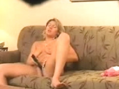 My mom home alone masturbating in living room