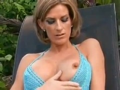 Sexy mature outdoor in pussy and ass