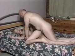 Homemade video with me sucking and riding an older guy's prick
