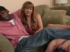 Claire Robbins takes anal fucking in front of cuckold