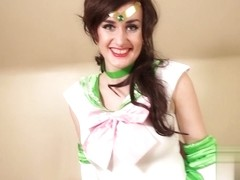 Elise Adore in Sailor Jupiter Has Her Alone Time Scene