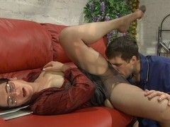 MaturesAndPantyhose Video: Elsa and Lucas