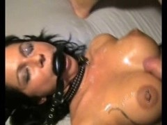 Brunette babe sucks cock and get a creamy hot sperm shot