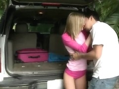 Chloe Brooke enjoys in car sex with Juan Largo