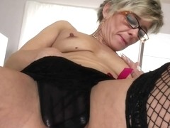 Hot old granny still likes to play with herself
