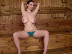Karina Heart plays with massive natural knockers
