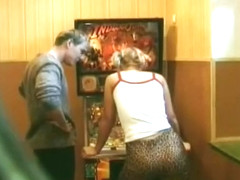 Pigtailed Slut Fucked Over Pinball Game