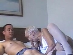 70 yr old granny with 20 yr old stud