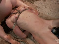 Ella Nova & Dylan Ryan in 2 Helpless Blonde Whores In Brutal Bondage - SadisticRope