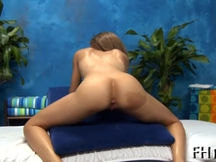 Erotic massage with hot hammering