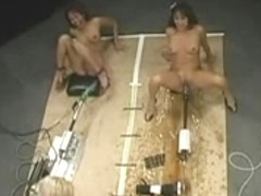 Angels squirting massive loads on Fucking Machines