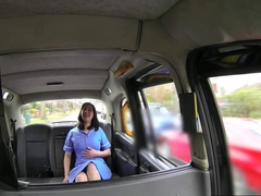 Real nurse fucked on public taxi security cam