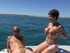 Catalya analfucked on a boat