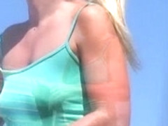 Btb 03 321m Incredible german blond topless wife beach ibiza