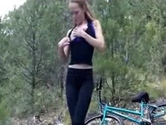 Gal Rides Her Bike Exposed In Public