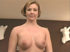 Randy blond in darksome nylons  undress-teases on livecam