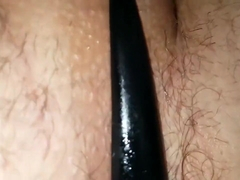 Enjoying my new toys with cumshot in the end. Love my buttplug/cockring