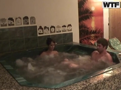 Hot fucking romance in Jacuzzi with sexy Nessa Devil!