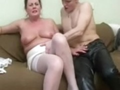 Hot Chubby Mature teaches young man to fuck