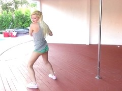 Alex Little In Pole Dance