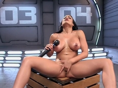 Amazing fetish, latina xxx video with hottest pornstar Luna Star from Fuckingmachines