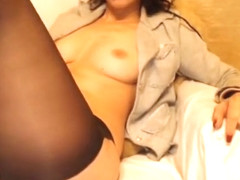 Orgasm in pantyhose