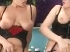 Vintage lesbians in nylons enjoying each others vagina