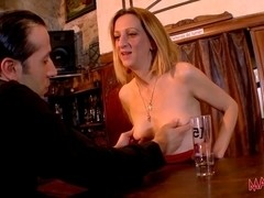 Busty mature bartender gets some action in HD