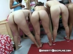 College Girls Ride A Bike Naked As Sorority Dare