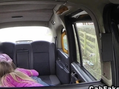 Blonde in boots gets fucked in cab