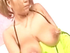 Japanese Gal with BIGGEST NIPPS and Mounds