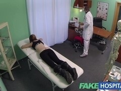 Spy on charming legal age teenager sluggishly enticed and takes creampie from the doctor
