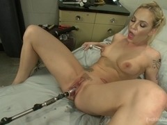 The Hottest Woman ALive getting machine fucked