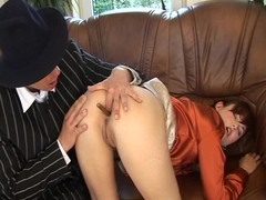extreme anal lesson by our smoking boss