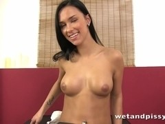 Speculum spread babe pisses and masturbates