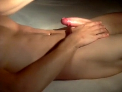 Oily cock massage till cumshot