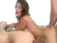 Fornication four people MILF surrounds the man