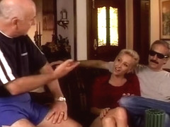 Blond Milf Rides Dick In Front Of Hubby