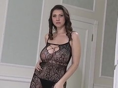 Sexy Lingerie Lina's saggy bouncing titties