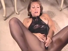 Michelle in black pantyhose