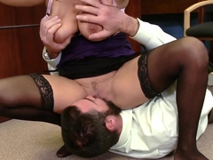 Sophia Lomeli has a fascinating bang with a sex machine, Charles Dera