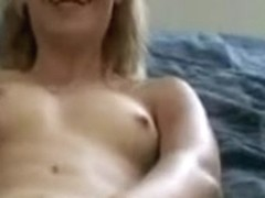 undressing girl toys herself