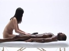 The asian art of handling a black man and his cock.