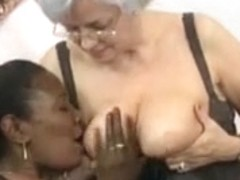 Interracial mature gangbang with old cocks and pussies