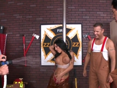 Fire squad reaches for Emily B's tits